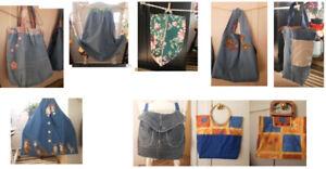 sacs en tissus recyclés