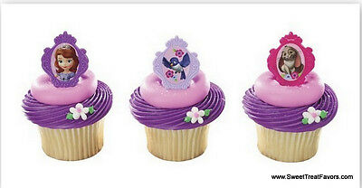 Sofia The First CupCake Cake Topper 12 18 24 Favors Decoration Birthday Princess - Sofia The First Cupcake Cake