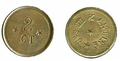 2 Cent III.Seebatalion Schiffsgeld ca. 1905 Kolonien / China / Kiautschou vz+