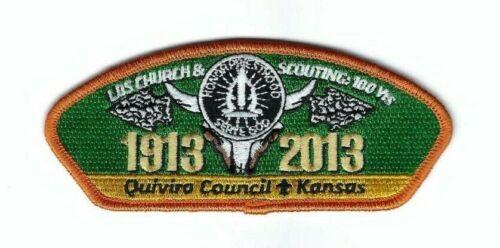 Boy Scout Patch Quivira Council LDS CSP 1913-2013
