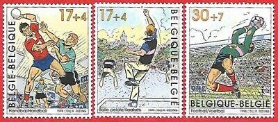 Belgien**FUSSBALL-HANDBALL-PELOTA-3 Mkn-1998-FOOTBALL-Sport