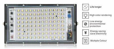 FOCO 100W Luz de Inundación 220V Impermeable LED Exterior Reflector ENVIO 48...