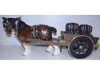 Vintage Shire Horse and Cart