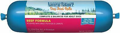 Natural Balance Dog Food Roll 1 Pound BEEF-best by