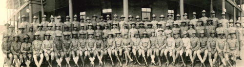 AFRICAN AMERICAN OFFICERS-5th Provisional Co-Officer Training School-LARGE PHOTO