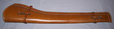 BROWN LEATHER PLAIN SMOOTH  SCABBARD Holster only (Rifle Holster)
