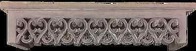 Wandbord Wand Ablage Bordüre Konsole Landhaus Shabby Holz braun 60x12x12 cm