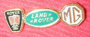 TRIPLE-LOGO-PIN-BADGE-ROVER-LAND-ROVER-MG-PAIR