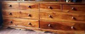 large chest of drawers/side board in solid wood