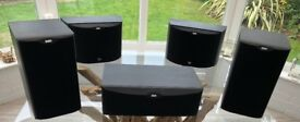 Bowers & Wilkins matched set of 5 speakers - supreme sound performance