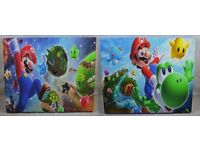 2 x Large Nintendo Super Mario Galaxy Canvas Wall Art 60cm x 50cm