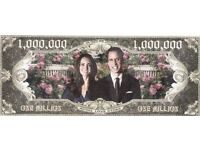 ONE MILLION DOLLARS UNITED STATES BANKNOTE ** ROYAL LOVE STORY ** MINT UNC.CONDITION
