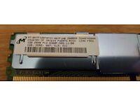 1GB HP Micron PC2-5300 MT18HTF12872FDY-667F1N6 DDR2 ECC Server Memory RAM