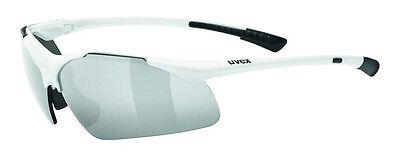 NEU! UVEX sportstyle 223 white Sonnen Brille Fahrrad Bike Rad Sportbrille Weiß
