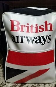 Vintage 1970s British Airways Union Jack, Vinyl Shoulder Bag