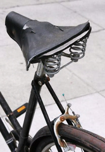 About to throw away your old bicycle seat?