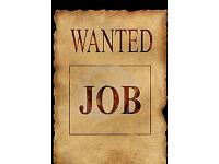 Work wanted - Alfreton or near.