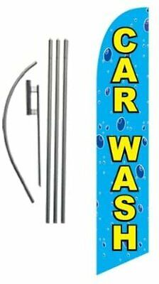 Car Wash Feather Flag Banner Swooper Flag Kit Top Selling Car Wash Signs ...