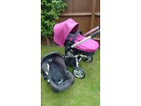 Graco 3 in 1 Pram/pushchair. Only £50! In good condition. Includes rain cover and footmuff