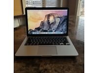 apple macbook pro 13.3 inch laptop - 2015 - with original box and cables