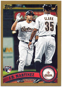 2011 Topps Update Gold #US186 J.D. Martinez-Rookie 1903/2011