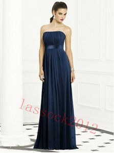 12 Colours New Bridesmaid Prom Formal Party Gown Dress Size 6 8 10 12 14 16.18