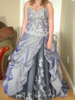 Beautiful Silver Prom Dress for Sale
