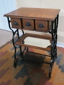 Table Created from a Antique Treadle sewing table