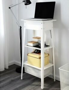 Laptop stand with wire organisation system