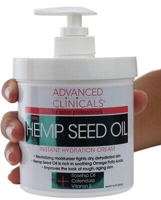 Advanced Clinicals Hemp Seed Lotion. Hemp seed oil cream for