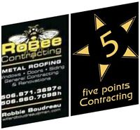 5 POINTS Contracting and ROBEE Metal roofing