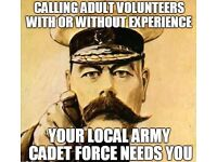 Volunteers needed within the Army Cadet Force, no experience needed!