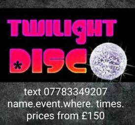 Dj hire twilight disco