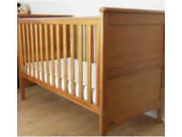 Mamas & Papas Cot Bed- 2 IKEA chest of drawers