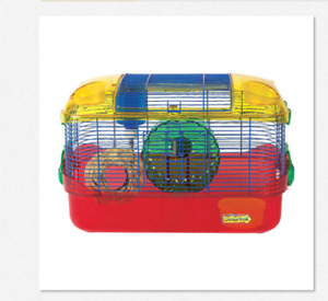 2 hamsters WITH 2 cages for sale!