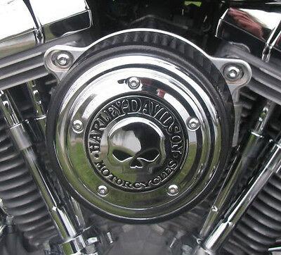 Harley Willie Skull Chrome Air Cleaner Cover Flhx Street Glide Road King Xl