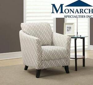 NEW MS SANDSTONE/GREY ACCENT CHAIR   MONARCH SPECIALTIES - HOME - FURNITURE - LIVING ROOM  88884279