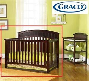 NEW GRACO CONVERTIBLE CRIB CLASSIC CHERRY - CHARLESTON Baby › Nursery › Furniture