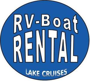 RV RENTAL *Experience Camping*  Patio Pontoon Lake Cruises