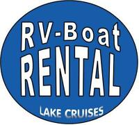 *Camping* RV Trailer Rentals *Lake Cruises - Pontoon Boat Rental
