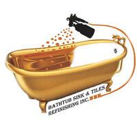 Bathtub Sink Tiles Refinishing,Reglazing,Resurfacing,Chip repair