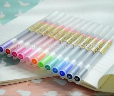 Muji Style Ink Gel Pens 12 1 Multi-color 0.5mm.  Its A Bakers Dozen
