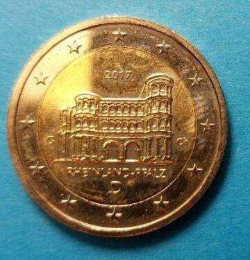 2 Euro Münze Rheinland Pfalz 2017 D In Niedersachsen Nordhorn