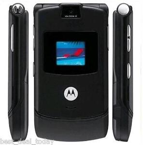 MOTOROLA MOTORAZR RAZR V3i - BLACK (UNLOCKED) CELLULAR CELL PHONE AT&T T-MOBILE