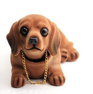 WonSystem Dog Doll Shaking Head Puppy Cute Decoration(Dachshund)