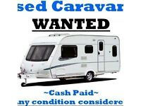 Wanted touring caravans and camper vans any age or condition
