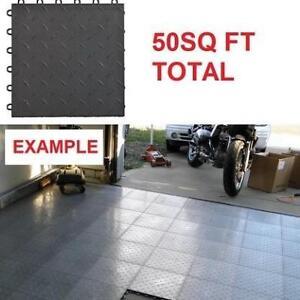 NEW 50 SPEEDWAY DIAMOND TILES 789453B-50 225097733 6 LOCK GARAGE FLOOR BLACK 50SQ FT