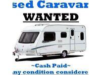 USED CARAVANS AND CAMPER VANS WANTED