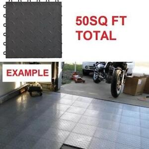 NEW 50 SPEEDWAY DIAMOND TILES 789453B-50 225097733 6 LOCK GARAGE FLOOR BLACK 50SQ FT
