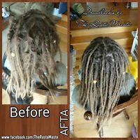 Professional DREADLOCKS. Dreads by The Rasta Masta.